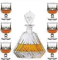 Juego de vasos de whisky con 6 vasos de whisky para whisky o whisky para hombre (color transparente