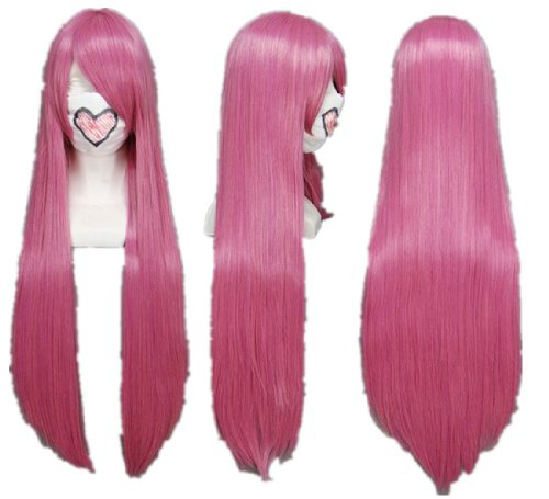 Long Straigh Pink Cosplay Wig
