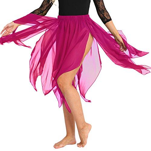 Alvivi 13 Panel Chiffon Fairy Belly Dance Asymmetric
