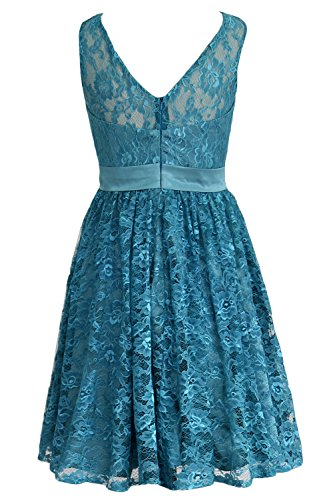 MACloth Formal Gown Short Women Dress Minze Lace Party Straps Bridesmaid Cocktail qrqPxAOzW