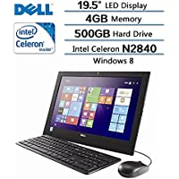 Dell Inspiron 19.5 Intel Celeron N2840 X2 All-in-one Laptop-2.16GHz 4GB Memory 500GB Hard-Drive Black(Certified Refurbished)