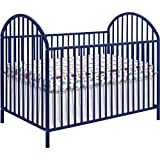 Navy Blue Powder Coated Solid Metal Baby Crib