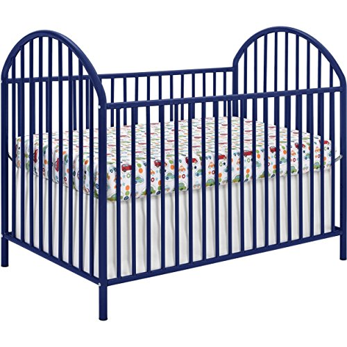 Navy Blue Powder Coated Solid Metal Baby Crib (Cosco Travel Crib)
