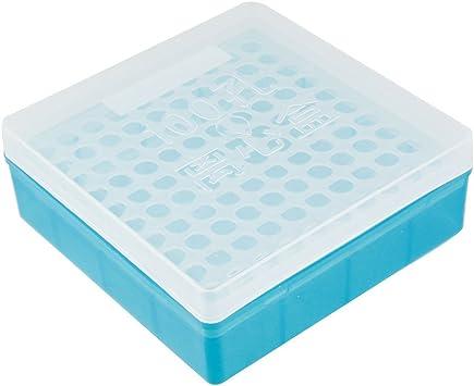 Estuche Cuadrado de Plástico para Tubos de Centrífuga de 1.5ml de Laboratorio de 100 Posiciones: Amazon.es: Bricolaje y herramientas