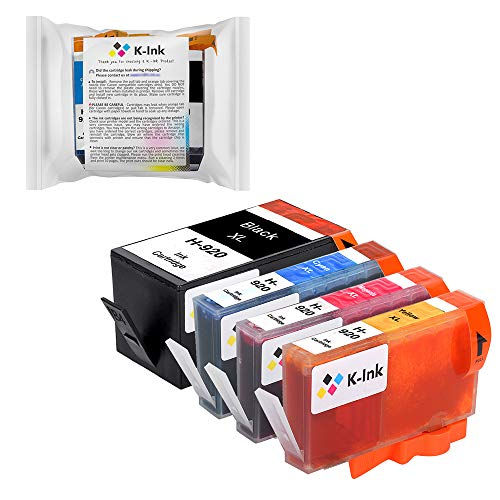 K-Ink Compatible Ink Cartridges Replacement for HP 920 920XL (4 (920 Combo Pack)