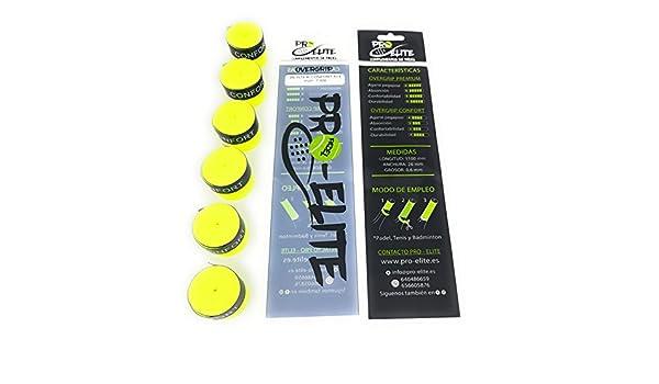 Blister 5+1 de overgrips Pro Elite Confort Lisos Amarillos Flúor: Amazon.es: Deportes y aire libre