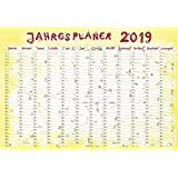 Jahresplaner Cartoon XL 2019 - Wandplaner / Plakatkalender (99 x 69)