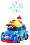 Bubble Ice Cream Truck Toy Battery Operated Toy Ice Cream Truck Car w/ Lights & Sound Music (Blue Color)