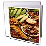 3dRose TDSwhite – Farm and Food - Food Healthy Eating Tortillas Tacos - 12 Greeting Cards with Envelopes (gc_285152_2)