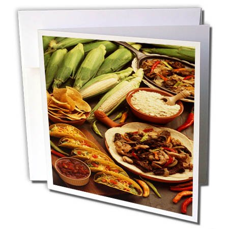 3dRose TDSwhite – Farm and Food - Food Healthy Eating Tortillas Tacos - 12 Greeting Cards with Envelopes (gc_285152_2) by 3dRose