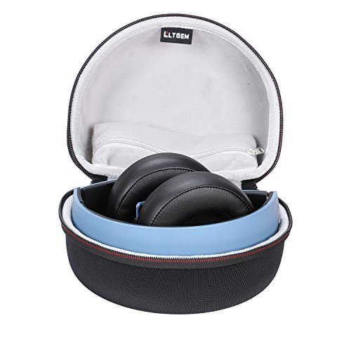 LTGEM for Sony PlayStation Gold Wireless Stereo Headset PS4 Gaming Headphone EVA Hard Case Travel Carrying Storage Bag - Zipper Pocket for Accessories
