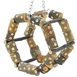 Niteangel® Climbing Frame Swinging, Roundabout Bird Toy, Hamster Toy, 6.7'' x 6.7'' x 4.3''