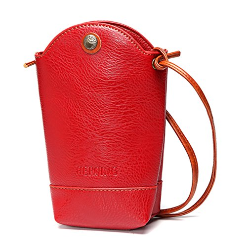 Little Bag Casual Bag PU Irregular Red Crossbody Bucket Coffee Woman Phone Bag JOSEKO nFUE8E