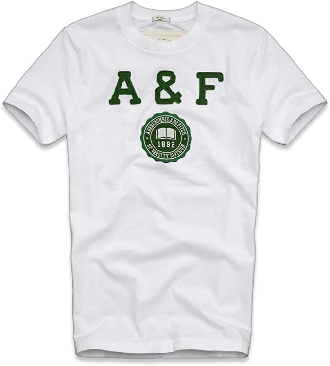 Abercrombie & Fitch - Camiseta - para hombre blanco blanco: Amazon ...
