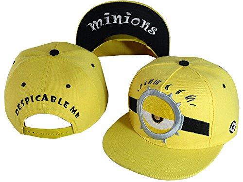 [Unisex Despicable Me Minions Cartoon Hip Hop Hats Baseball Caps (2#)] (Despicable Me Minion Hats)
