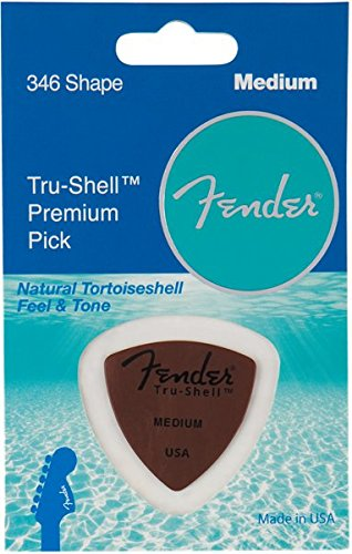 (Fender 346 Shape Picks, Tru-Shell, Medium for electric guitar, acoustic guitar, mandolin, and bass )