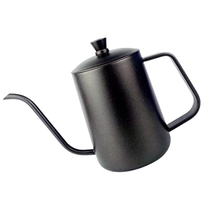 Segolike Stainless Steel Hand Drip Coffee Pot Pour Over Gooseneck Kettle 600ml Black