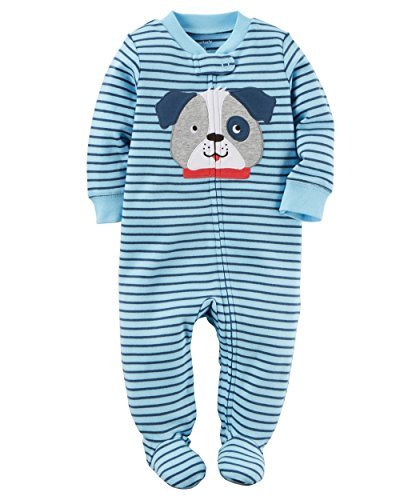 Carter's Baby Boys' Cotton Zip-Up Sleep & Play (6 Months, Blue Dog)