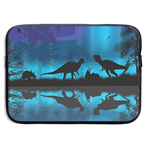 Dinosaurs River Moon Night Dinosaur Laptop Sleeve Tote Bag Waterproof Soft Carrying Case Cover Bag for 15 Inch Computer]()