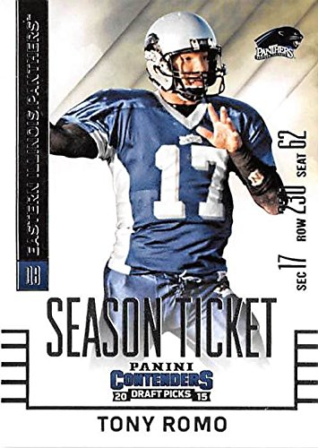 check out 7f7bc bc195 Tony Romo football card (University of Eastern Illinois ...