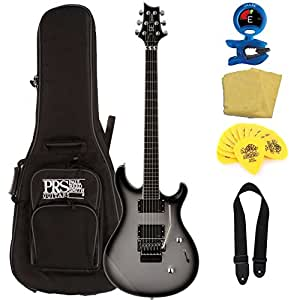 prs se torero electric guitar silver burst with accessories and gig bag musical. Black Bedroom Furniture Sets. Home Design Ideas