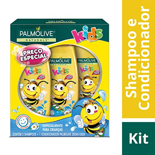 Shampoo e Condicionador Palmolive Naturals Kids Todo Tipo de Cabelo 350ml Promo Leve 2 Shampoos + 1 Condicionador