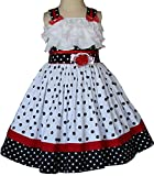 Baby Girls Polka Dot Dress for Disney Vacation and Minnie Mouse Pictures
