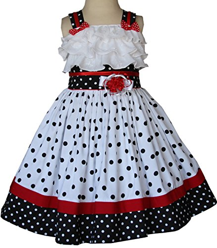 Baby Girls Polka Dot Dress for Disney Vacation and Minnie Mouse Pictures by Carouselwear