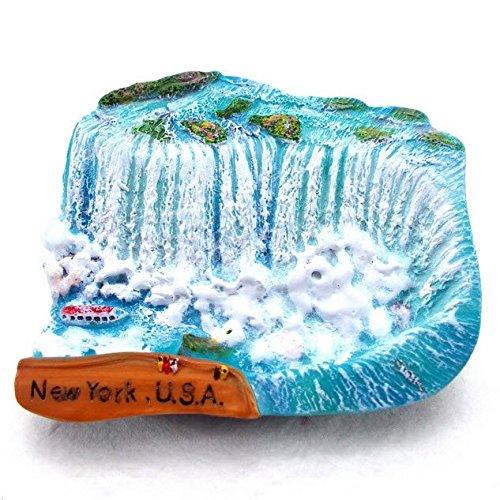 Niagara Falls New York USA Canada Souvenir Fridge Magnet Toy Set 3D Resin Collection ()