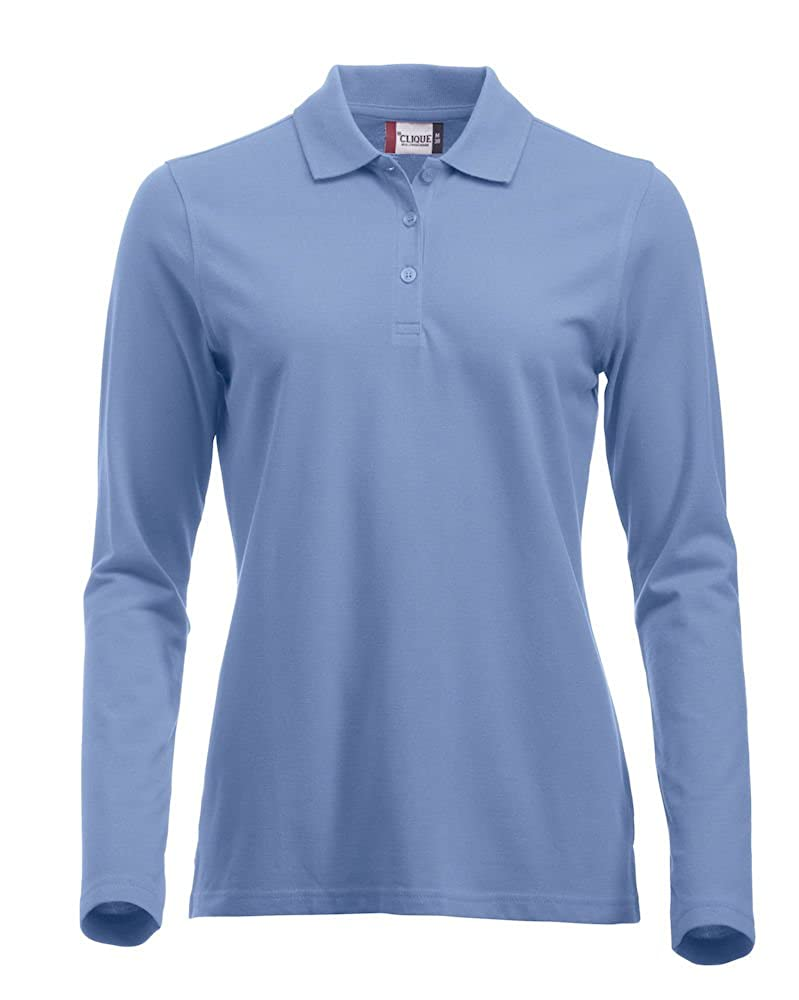 Clique Clothing Ladies Classic Cotton Long Sleeve Polo Shirt. Modern Fit, 11 Vibrant Colours, XS-2XL SG0518L