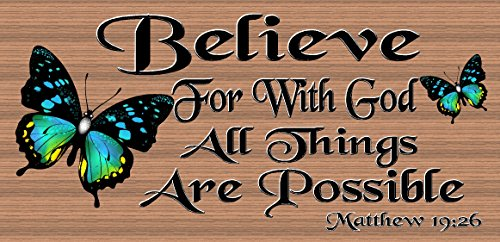 Believe For With God All Things Are