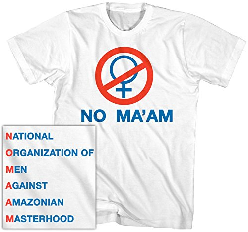 Al Bundy Costume (Married With Children- No Ma'am (Front/Back) T-Shirt Size L)