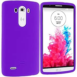 Accessory Planet(TM) Purple Silicone Soft Gel Rubber Skin Case Cover Accessory for LG G3