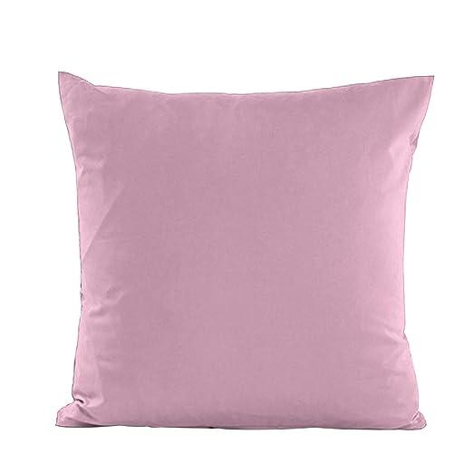 Alimagic Almohada de Color Liso, Funda de Almohada para sofá ...