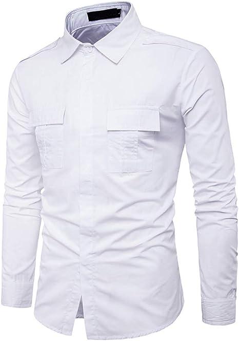 Rawdah_Camisas Hombre Camisas De Hombre De Vestir Camisas De Hombre Blancas Camisas De Hombre Talla Grande Camisas Hombre Slim Camisas Hombre Blancas: Amazon.es: Ropa y accesorios