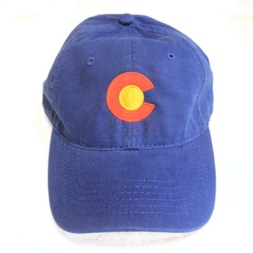 Ann Arbor T-shirt Co. Colorado State Flag Low Profile Baseball Hat | Coloradan Golf Cap Royal (Colorado State University Gear)