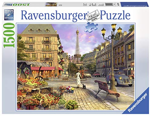 Ravensburger Vintage Paris 1500 Piece Jigsaw Puzzle for Adults - Softclick Technology Means Pieces Fit Together Perfectly