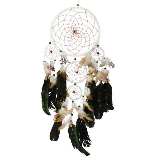 New Age Source Dream Catcher Divine - Large dream catcher with beads, for wall, for decor, in bedroom by New Age Source