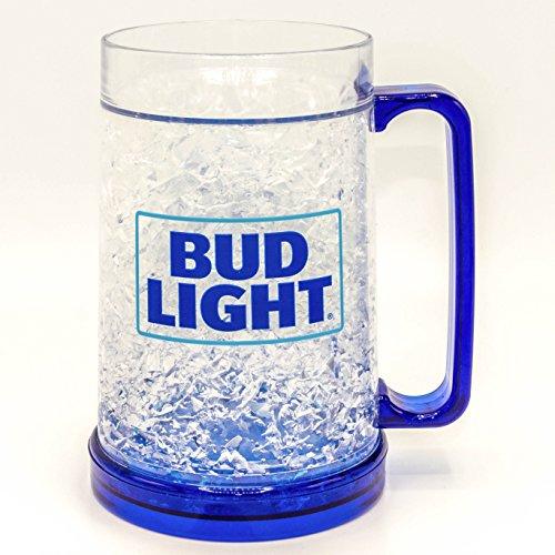 Silver Buffalo ANB2158T Bud Light Stacked Logo Freezer Gel Plastic Mug, 16-oz, ()