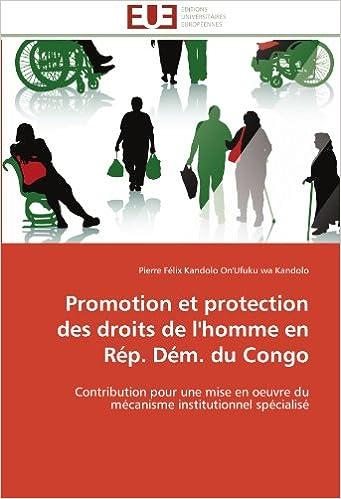 En ligne Promotion et protection des droits de l'homme en Rép. Dém. du Congo: Contribution pour une mise en oeuvre du mécanisme institutionnel spécialisé pdf epub