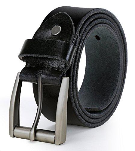 Tonly Monders Vintage Genuine Leather Belt For Men Black/Brown/Coffee, 1 1/2 Inch Width (Waist Size 34