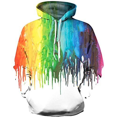 (luyusbaby Boys Girls Unicorn Print Sweatshirts 3D Galaxy Pullover Kids Hoodies Pocket)