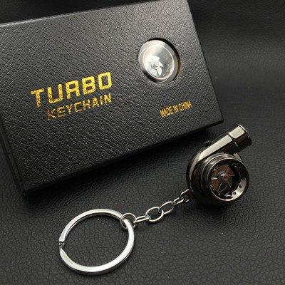 XiaoGao_ Creativo Llavero LED Llavero de Turbo,Pistola Negra ...