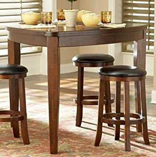 Amazoncom Dining Set 4piece Contemporary Triangle Shaped Wood