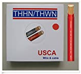USCA Stranded THHN/THWN 14 AWG Building Wire, 500 FT, Red,600 Volt, 90C
