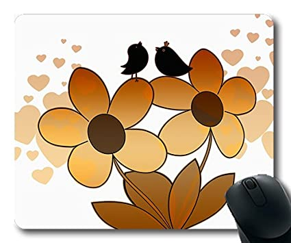 1f8015484d5 Amazon.com : (Precision lock edge mouse pad) Bird Twitter Flowers ...