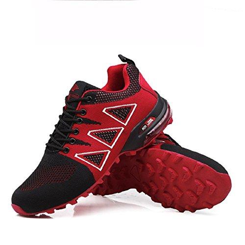Ginnastica Scarpe Fitness Sportive da Interior Rosso Running tqgold Nero all'Aperto Sneakers 1 Corsa Uomo RqEwxFnf