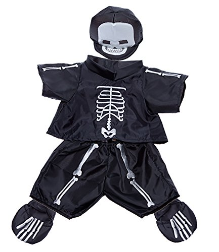 Skeleton Costume Outfit Teddy Bear Clothes Fits Most 14