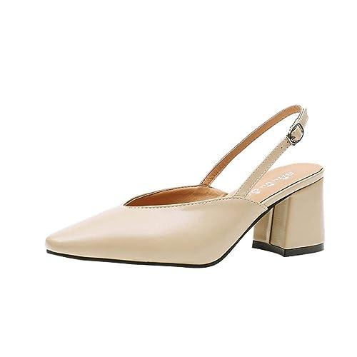 Sandalias Chanclas de Vestir Fiesta de tacón Alto para Mujer, QinMM Zapatos básicos Elegantes de Boda Mocasines: Amazon.es: Zapatos y complementos