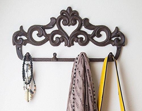decorative cast iron wall hook rack vintage design hanger import it all. Black Bedroom Furniture Sets. Home Design Ideas